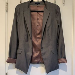 Gap Grey & Mauve Blazer Sz 4 Tall
